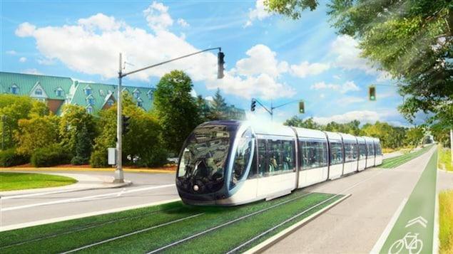 Esquisse du projet de train léger de la Ville de Gatineau