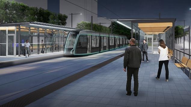 Une maquette du tramway comme présentée le 20 novembre.