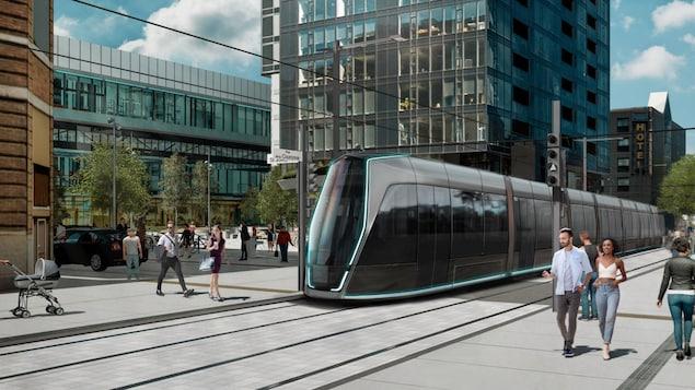 Une maquette du tramway.
