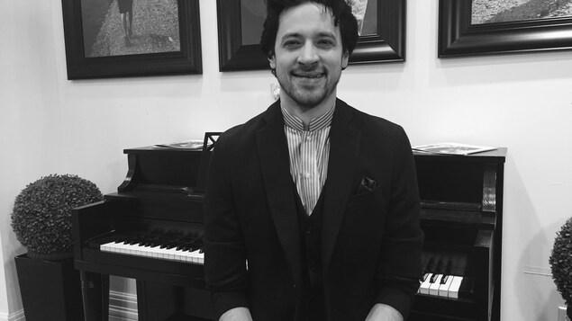 Le pianiste sherbrookois Tristan Longval-Gagné