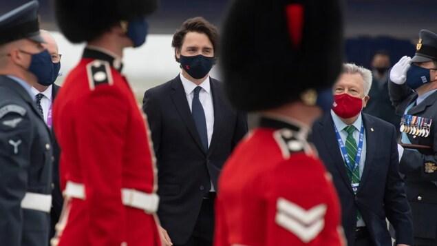 2021年6月10日:加拿大總理賈斯汀·特魯多(Justin Trudeau)抵達英國,出席 G7 峰會。