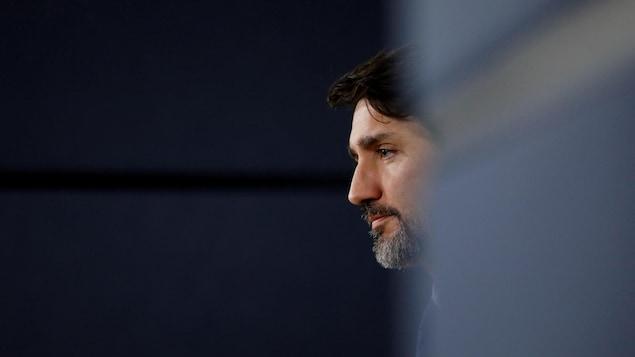 Profil du premier ministre Justin Trudeau.