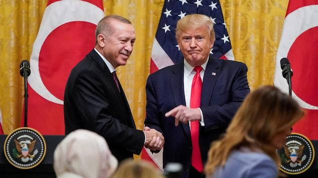Le président américain Donald Trump et son homologue turc Recep Tayyip Erdogan.