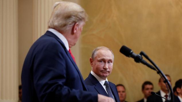 Les président américain Donald Trump et russe Vladimir Poutine