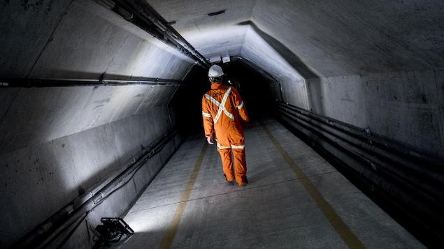 L'intérieur du tunnel Grondines-Lotbinière