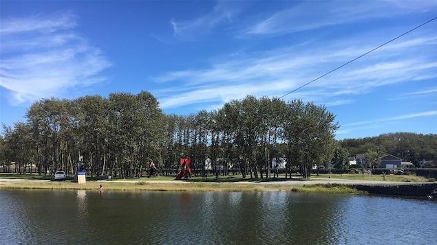 Le parc des Îles de la rivière Matane.