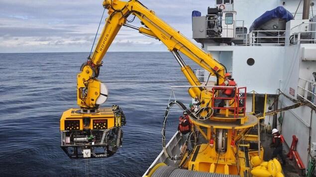 Le véhicule sous-marin téléguidé qui sera utilisé par les chercheurs