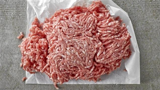 De la viande hachée et son emballage