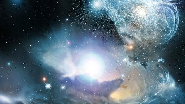 Représentation artistique de l'Univers.