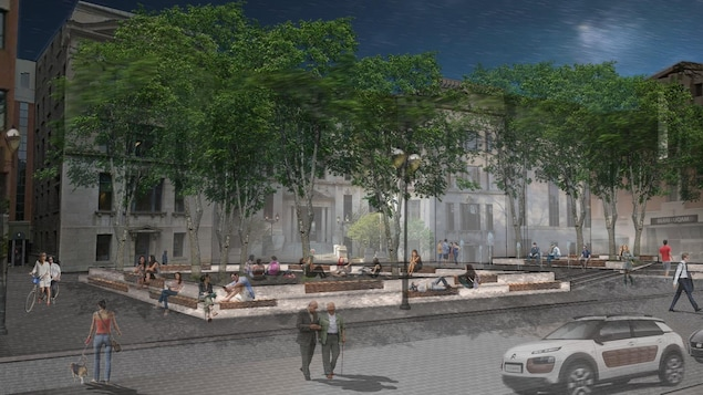 La place Pasteur après son réaménagement.