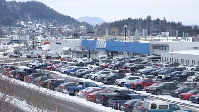L'usine de Bombardier à La Pocatière.