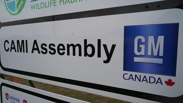 L'enseigne d'une usine