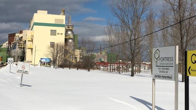 L'usine Fortress à Thurso en hiver.