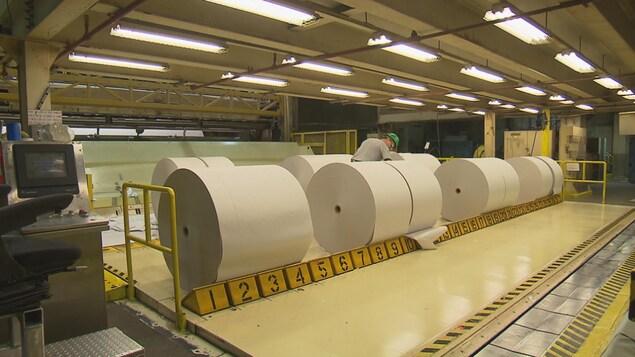 L'usine de papier journal de Produits forestiers Résolu à Baie-Comeau