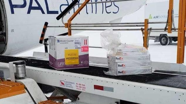 Des doses du vaccin de Moderna contre la COVID-19 avaient été livrées à Happy Valley-Goose Bay, au Labrador, le 31 décembre 2020.