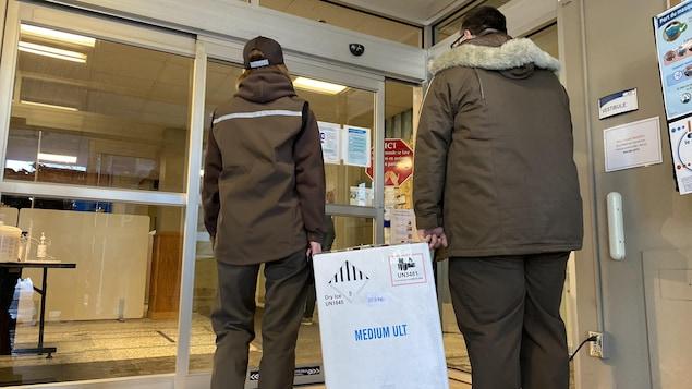Une livraison de vaccins.