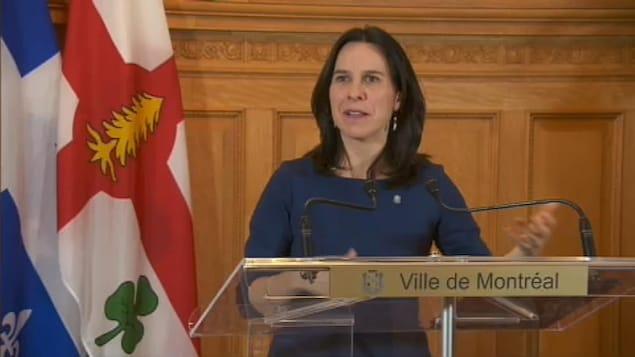 La mairesse de Montréal, Valérie Plante, commente le budget de Québec.