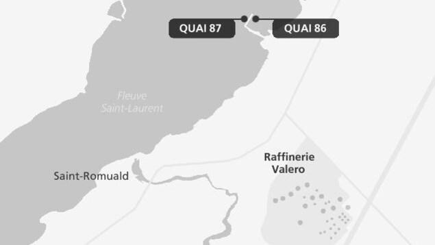 Les quais de la raffinerie Jean-Gaulin