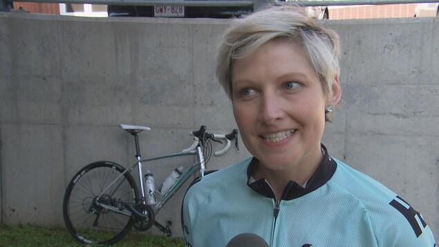 Gini Bourque, survivante du cancer du sein et participante