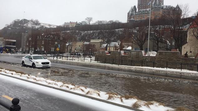 Rue de Québec inondée