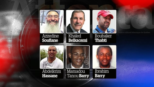 Les six victimes de l'attentat dans une mosquée de Québec