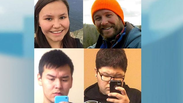 Une photo des victimes de la tuerie survenue à La Loche, en 2016.