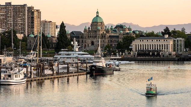 Victoria, la capitale de la Colombie-Britannique, situé au sud de l'île de Vancouver.