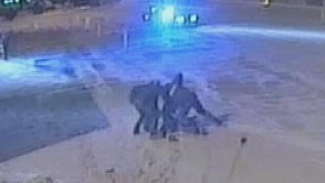 Vidéo de l'arrestation d'Alexis Vadeboncoeur