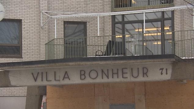 Devanture du CHSLD Villa-Bonheur de Granby.