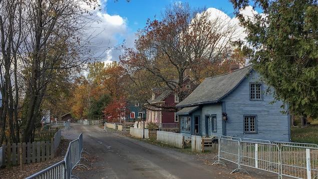 Quelques maisons sur le site du Village québécois d'antan.