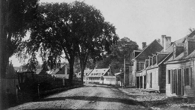 Le village des Tanneries en 1859