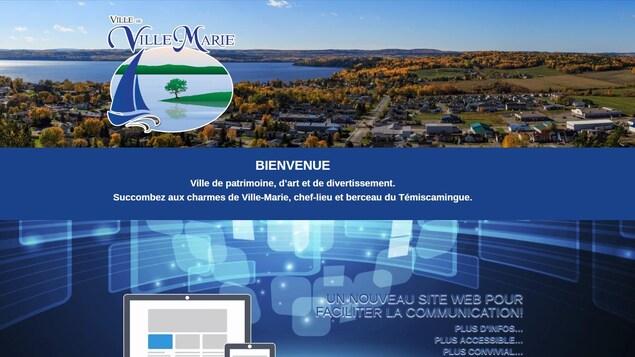 Le nouveau site Internet de Ville-Marie.