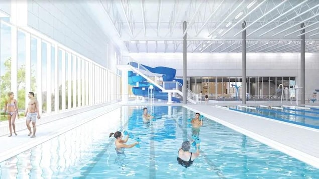 Image de synthèse du futur complexe sportif de Ville Mont-Royal.