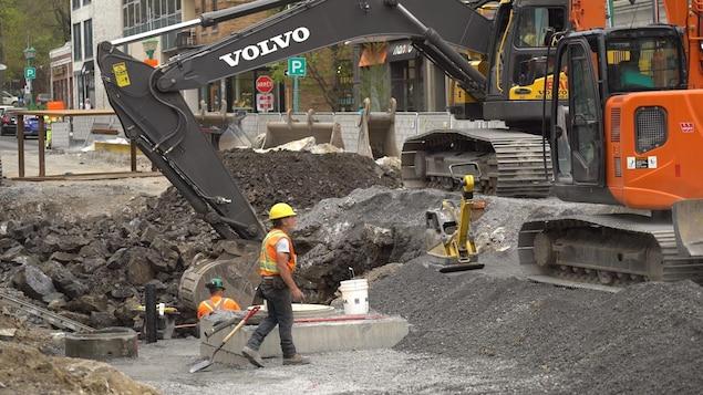 Un chantier de construction à Montréal.