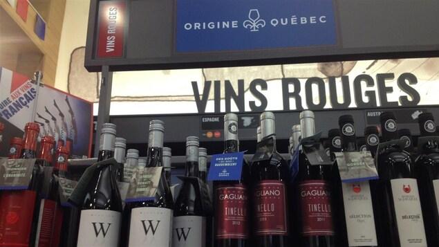 Section Origine Québec à la SAQ.