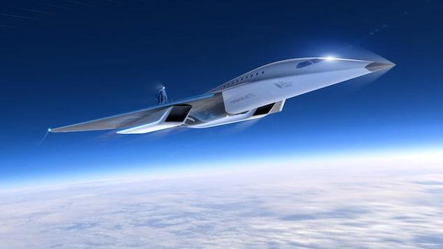 Un avion supersonique.