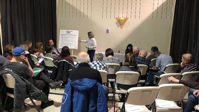 Une séance de consultation publique pour le projet vision zéro.