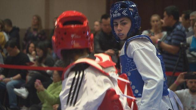 Le rêve olympique de Viviane Tranquille s'est terminé samedi à Laval, alors qu'elle a été éliminée des qualifications.