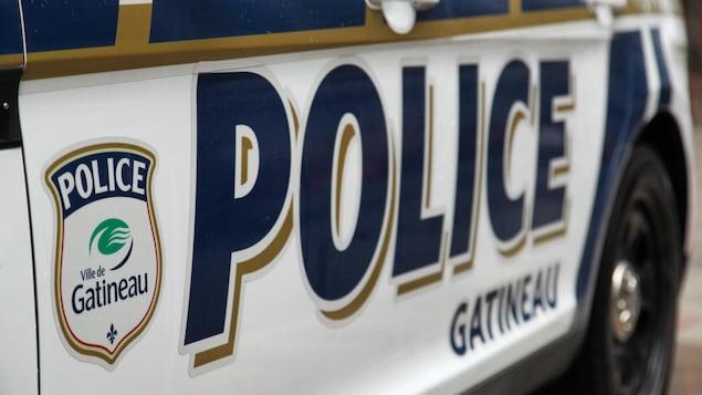 Une voiture du Service de police de Gatineau, plan rapproché