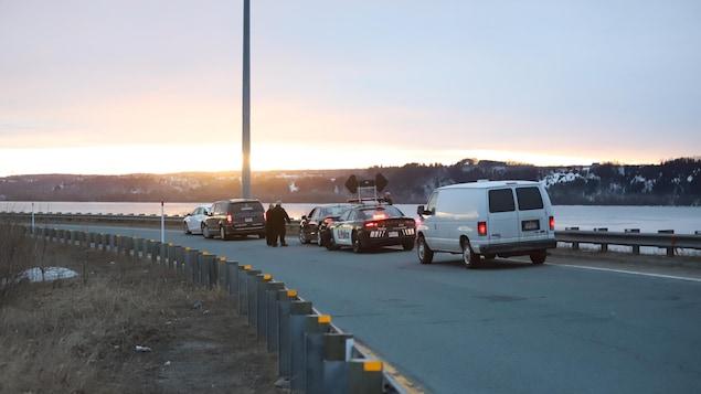 L'accident est survenu dans ce secteur, près de la jonction entre les autoroutes Félix-Leclerc et Dufferin-Montmorency.