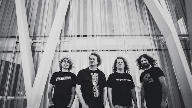Voivod est composé de Michel «Away» Langevin, Denis «Snake» Bélanger, Daniel «Chewy» Mongrain et de Dominique «Rocky» Laroche.