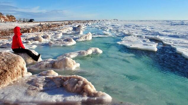 La baie des Chaleurs sous les glaces