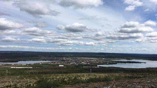 Une vue de la communauté de Matimekosh-Lac-John