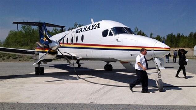 Un appareil de la compagnie aérienne Wasaya Airways.