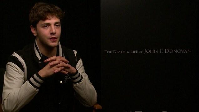 Xavier Dolan en entrevue.