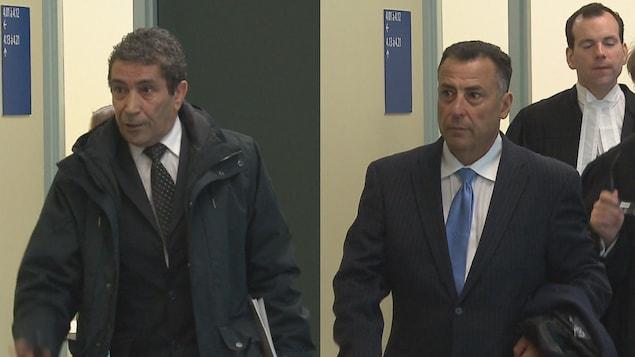 Abdelaziz Younsi et Mohamed El Khayat au palais de justice de Québec