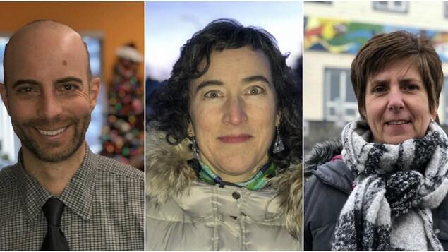Montage photo de portraits des trois Franco-Yukonnais.