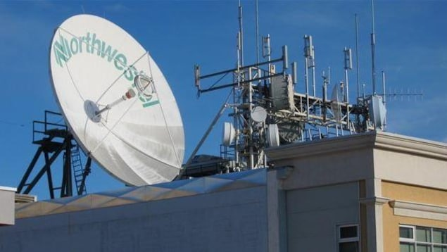 Une antenne de télécommunications de Northwestel.