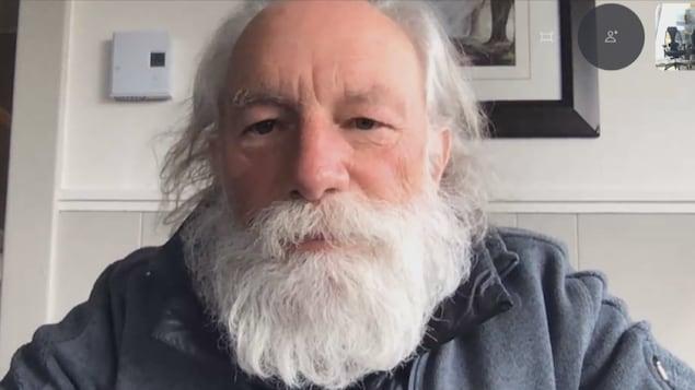 Yv Bonnier-Viger lors d'un entretien sur Skype.