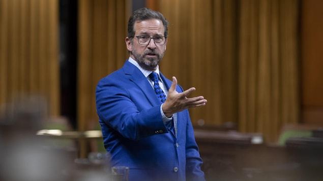 Le chef du Bloc québécois en Chambre.